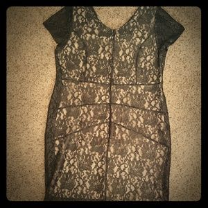 Lane Bryant black lace dress size 16